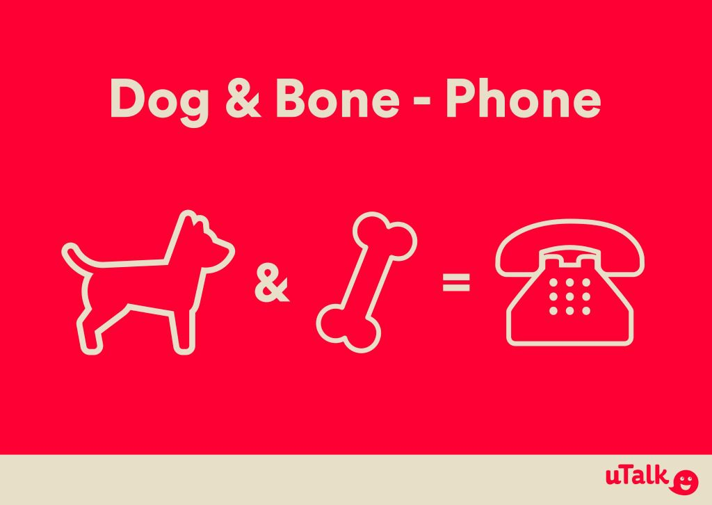 Dog and bone means phone in Cockney