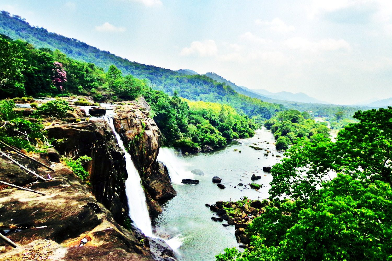 Countryside in Kerala, India.