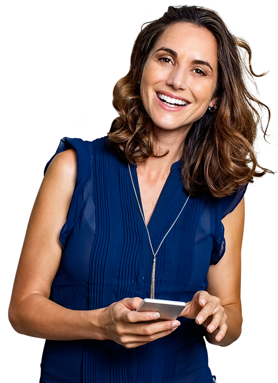 Woman learning to speak a language fast with the uTalk, the best language learning app.