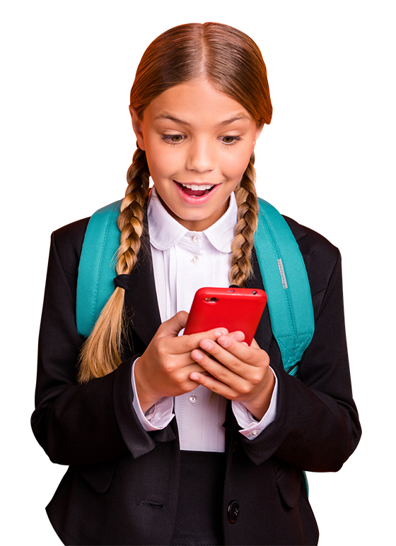 School student learning to speak languages with uTalk classroom app