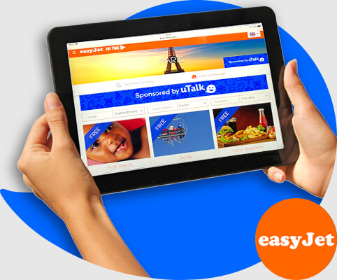 uTalk onboard Easyjet's new inflight service for Swiss routes